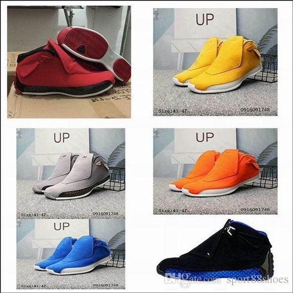 Black Royal Men shoes 18s Toro Red Suede Yellow Orange Blue Royal Cool Grey OG CDP Trainer 8-13