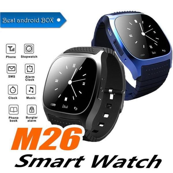 M26 smartwatch Wirelss Bluetooth Смарт Часы Телефон Браслет Камеры Пульт Дистанционного Управления Анти-потерянный будильник Барометр V8 A1 U8 часы для IOS Android