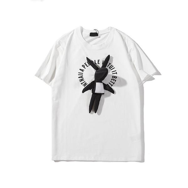 2020 Herren Damen-Designer-T-Shirts 3D Dekoration Luxusmode-Marke Bluse Häschen beiläufige Pullover Sommer-Kurzschluss-Hülsen-O-Ausschnitt Cute LJJ98294
