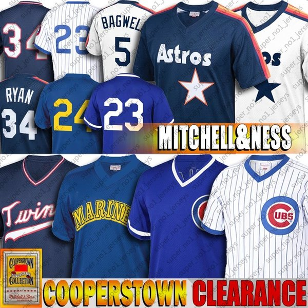 top popular Clearance 24 Ken Griffey Jr Ryne Sandberg Jersey Javier Baez Nolan Ryan Jerseys Jeff Bagwell Kirby Puckett Cheap Throwback Baseball Jersey 2020