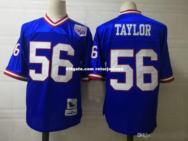 cheap for discount 3deed 6db66 2019 Mens Lawrence Taylor Vintage Football Jersey Stitched Phil Simms Harry  Carson Carl Banks Mark Bavar Jersey S 5XL From Retorjerseys, $30.21 | ...