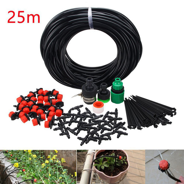 best selling 25M Irrigation Kit DIY Automatic Drip Irrigation Garden Watering Device Kits 4 7 capillaries Water Irrigation Watering Hose Tool Kit