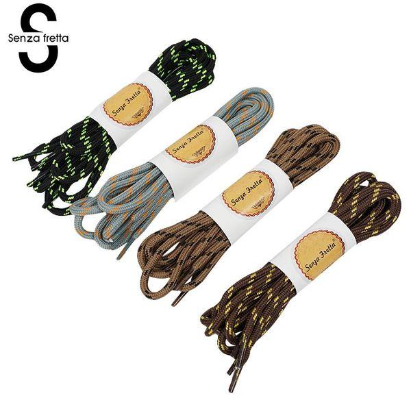 Senza Fretta 120cm Nylon Shoelace Women Men Fashion Wear-resistant Sport Shoe Laces Hiking Round Rope Boot Lace Strings Sneakers