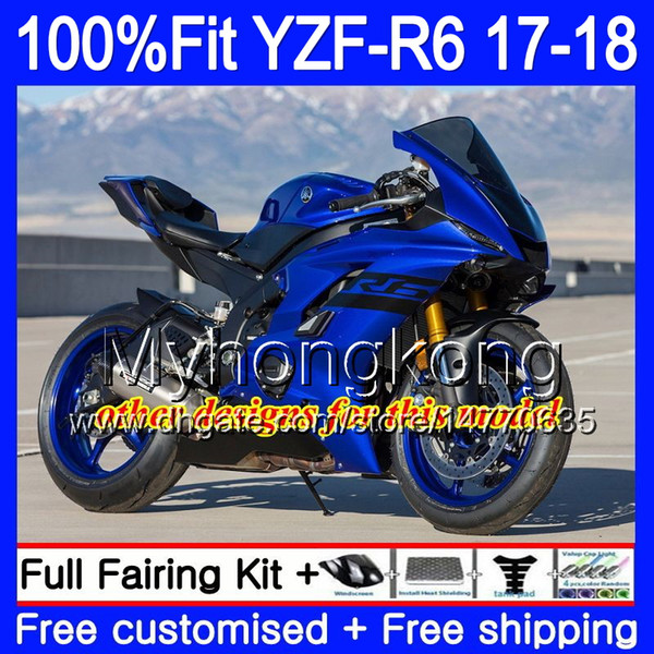 Injection Kit For YAMAHA YZF600 YZF R6 YZF 600 YZF R6 17 18 248HM 23 YZF R  6 YZF 600 YZFR6 2017 2018 Glossy Red Full Fairing Body + 7Gifts Cheap