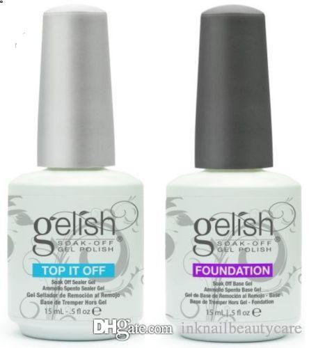 Top Quality Harmony Gelish Soak Off Nail Gel Polish Nail Art Gel Lacquer Led/uv Base Coat Foundation & Top coat