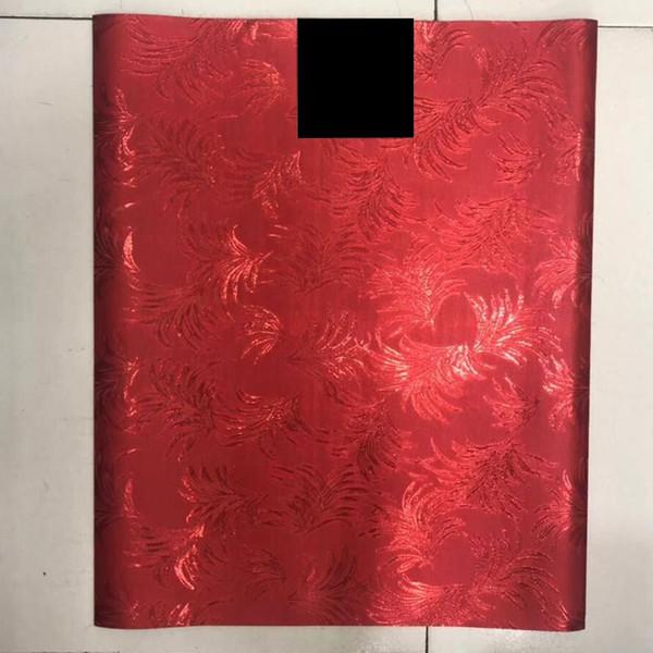Alta qualità nigeriani legami testa gele sego, Red African Wedding Party Testa Tie Wrap Scarf / Bandane 2 pz / pacco LXL-41-6