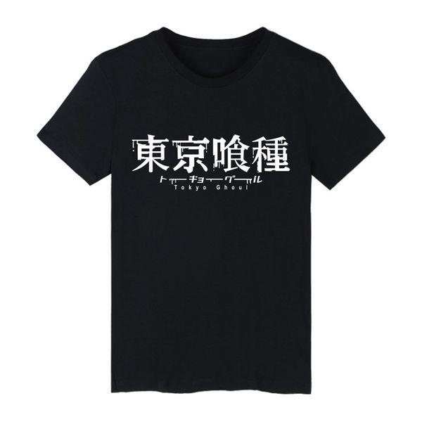 Tokyo Ghoul Anime Kaneki Ken Long T-shirt Men Hip Hop Short Sleeve Black T Shirts Mens TShirts Summer Anime Tee