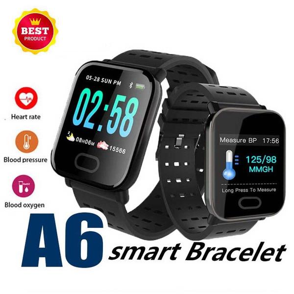 A6 Pulsera inteligente Pantalla a color de 1.3 pulgadas M20 frecuencia cardíaca presión arterial monitorización del sueño impermeable correr deportes reloj inteligente multilingüe