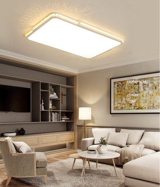 2019 LED Crystal Ceiling Lights Flat Panel Lamp Remote Dimming Modern  Living Room Bedroom Lights Indoor Home Fixtures LLFA From Nimiled, $219.98  | ...