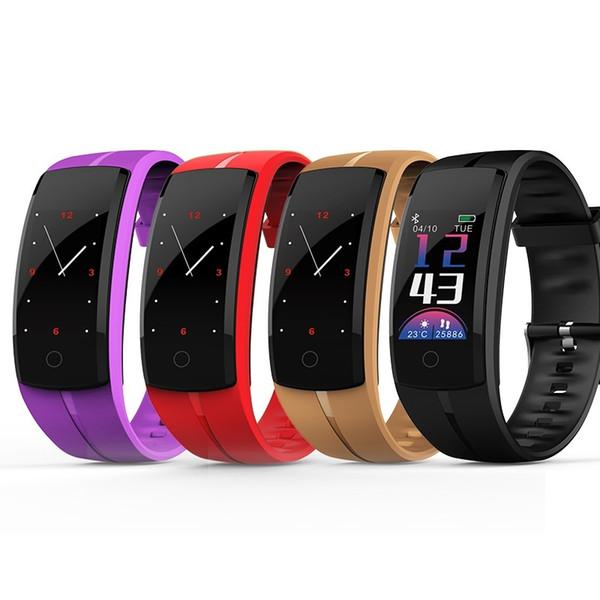 QS100 Reloj de pulsera inteligente Monitor de ritmo cardíaco Impermeable Reloj inteligente Pulsera con rastreador de actividad para Android IOS VS FitBit Charge