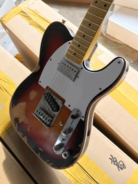 top popular New Andy Summers Tribute Relic Aged Electric Guitars 10S Custom Shop Limited Edition Masterbuilt Vintage Sunburst Finish Black Dot Inlay 2021