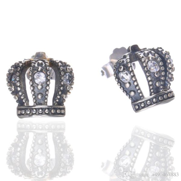 Hot brand high quality S925 silver ring imperial crown ring come with logo dust bag and box for couple gift