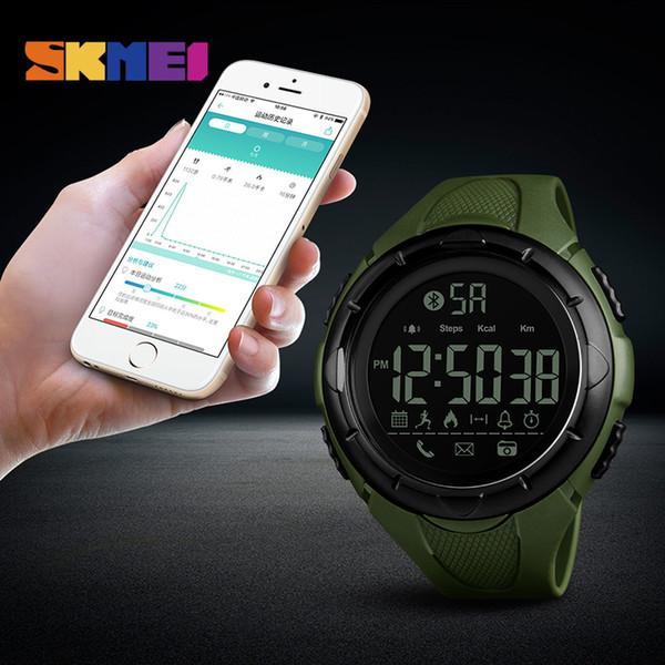 new skmei fashion men's remote calorie camera digital bracelet bluetooth electronic watch waterproof smart watch men's watch