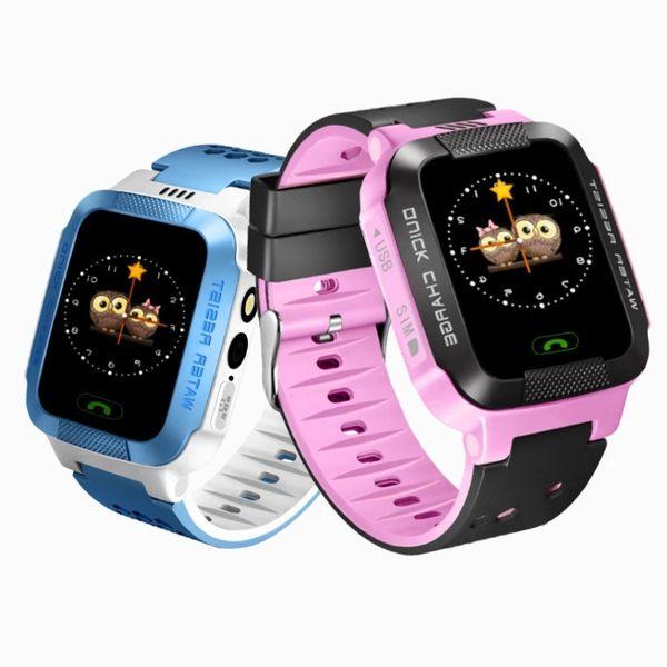Fashion touch screen kids smart watch Y21 gps smartwatch Children Smart watches tracker sos emergency smart phone Anti-Lost Alarm Clock