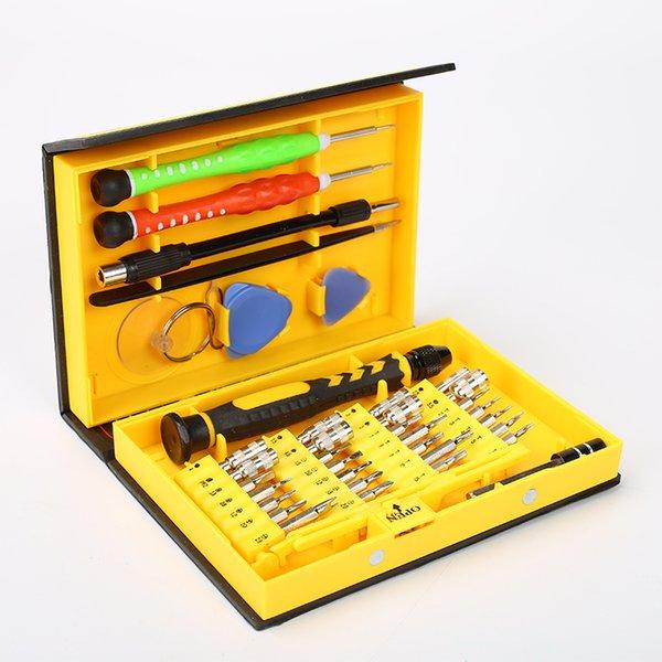 WELSOLO 3801 38 em 1 versátil chaves de fenda set 3801 Precisão Chave De Fenda Set Para Iphone X 8 8 P 7 6 5 Kit de Ferramentas de Reparo