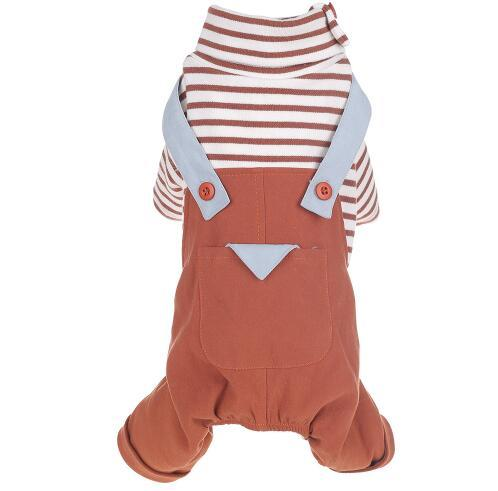 Pet Clothes for Dog Winter Warm Small Dog Clothes Striped Suspender Jumpsuit Pants Apparel Four Feet Big Dog Clothes XS-2XL