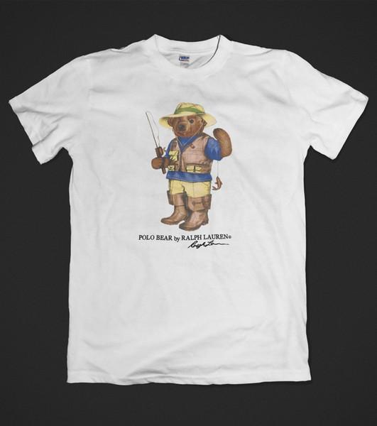 Neue 123ralph 123lauren T-shirt Bär Logo Angeln Baumwolle Kurzarm S Zu Xxl Cartoon T-shirt Männer Unisex Neue Mode T-shirt