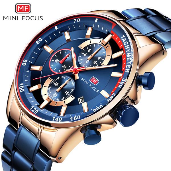 MINIFOCUS Relogio Masculino Hombres Relojes de Lujo Top Brand Moda Deportiva Deportiva Impermeable Reloj de Negocios Relojes de pulsera de Cuarzo Saat