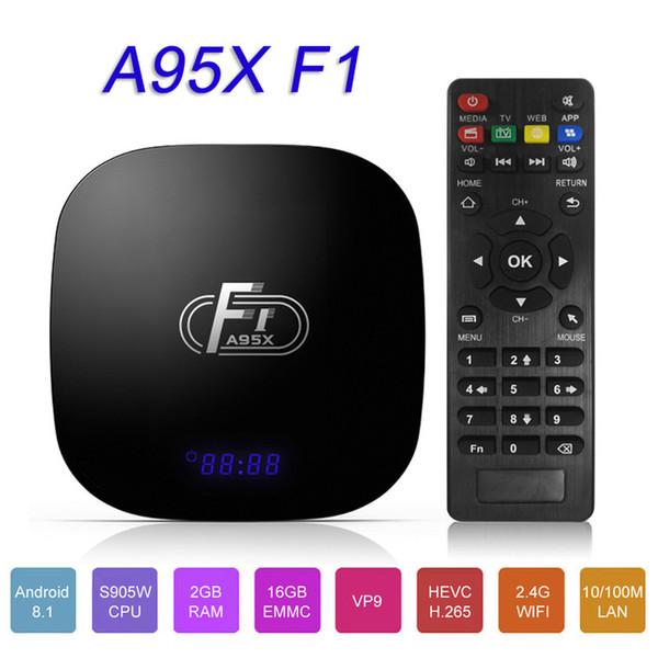 A95X F1 Android Smart TV Box Amlogic S905W Quad Core Telecomando TV Android Set Top Box 16 GB 4K WiFi Media Player Youtube