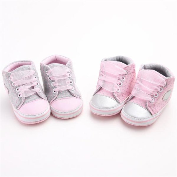Baby Shoes For Girls Toddler Baby Girl Canvas Heart shape Sneaker Anti-slip Soft Sole Shoes Baby First Walker Shoes M8Y11