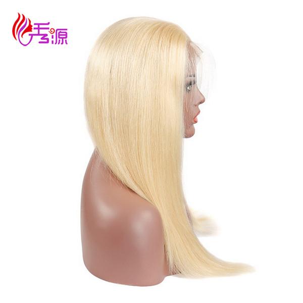 613 금발 버진 인간의 머리카락 레이스 프론트 가발 꿀 금발 스트레이트 613 레이스 프론트 인간의 머리 가발 Xiuyuan 학년 버진 헤어 무료 배송