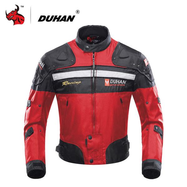 motor DUHAN Motorcycle s Motorbike Windproof Racing Jacket Protective Gear Winter Moto Jacket Men Motorcycle Clothing