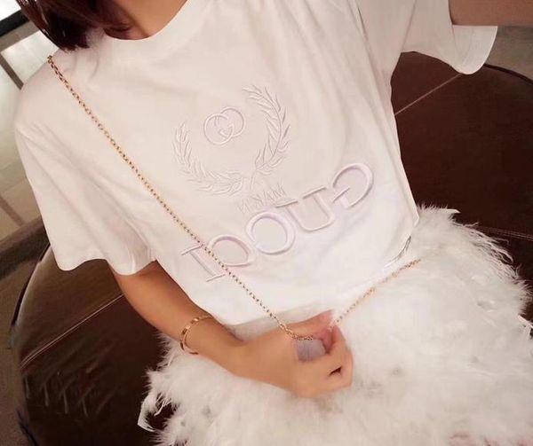 Justin Bieber Embroidered Turtleneck Tops for Men and Women Letter Design Men's Casual Cotton short sleeve SAINT LAURE T Shirts
