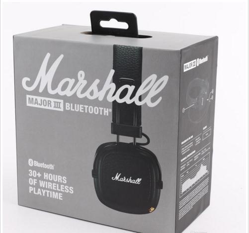 Amazing chaud vendre MARSHALL major III casque marque de mode écouteurs sans fil bluetooth mic pour mobile téléphone android avec logo voiture