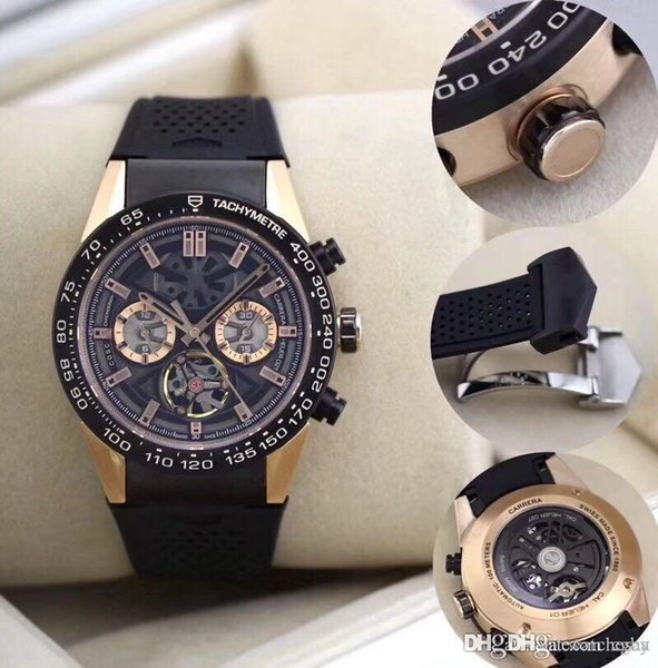 3A2018 newest image ambassador, men automatically top the chain riding flywheel watch.44 cm.Rubber band.Luxury mechanical watches.Men's