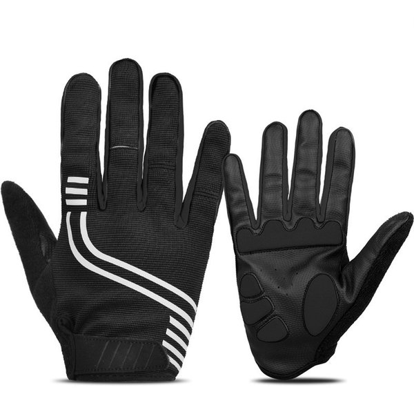 INBIKE Reflective Thicken Palm Pad Cycling Gloves Full Finger Touch Screen Breathable Bicycle MTB Riding Mountain Bike Gloves #284461