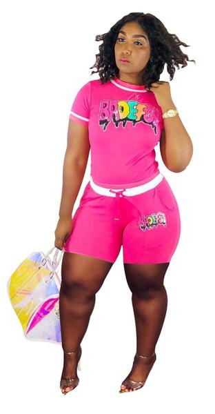 Paillettes per le donne Abiti casual con pannelli 2 pezzi Pantaloni Tinta unita Abbigliamento Shorts Camicia Pantaloni corti Sette Abbigliamento di moda