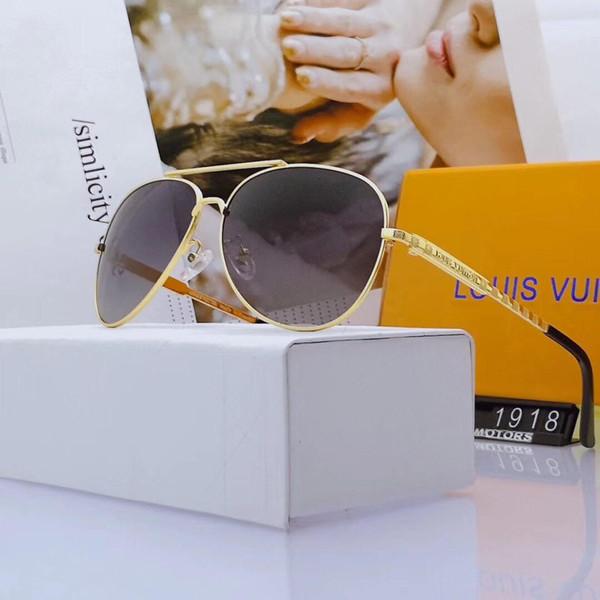 Erkek Lüks Güneş Gözlüğü Tasarımcı Güneş Gözlüğü Moda Gözlüğü Gözlük UV400 Marka 1918 Kutusu ile Yüksek Kalite 5 Renkler Gözlük Opsiyonel