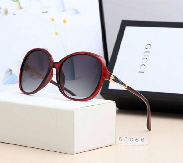 Gafas de sol de diseño Gafas de sol de lujo Marca de moda G55066 para mujer Gafas de conducción UV400 Adumbral con logotipo de alta calidad Hot Top