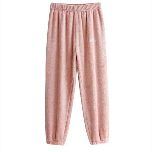 2019 otoño llegada del invierno nueva versión coreana del color de las bragas 6 Inicio Servicio Casual Pantalones salvaje pijamas engrosamiento envío