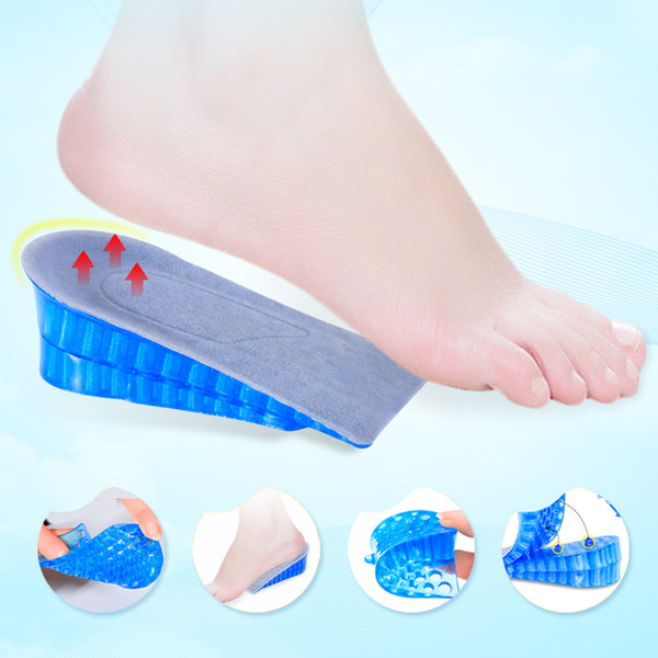 Wholesale Unisex Honeycomb Double Layer Silicone Shoe Insoles Women Men Silicone Height Increase Shoe Insoles Heel Insert Pad DH0697 T03