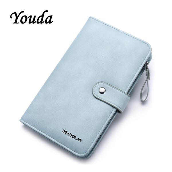 Youda Großraum-Damen-Karten-Beutel-klassische lange Frauen-Mappen-Art und Weise Normallack PU-materieller Geldbeutel-einfache Art-Mappen