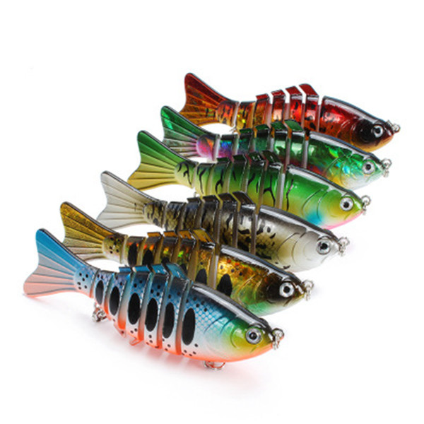 top popular Fishing Lures Wobblers Swimbait Crankbait Hard Bait Artificial Fishing Tackle Colorful Lure 7 Segment 10cm 15.5g ZZA356 2019
