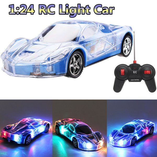 1/24 RC Electricity RC Cars Remote Control 360 Degree Rotating With 3D Flashing Lights Drive Toy For Kids Children Birthday Gift