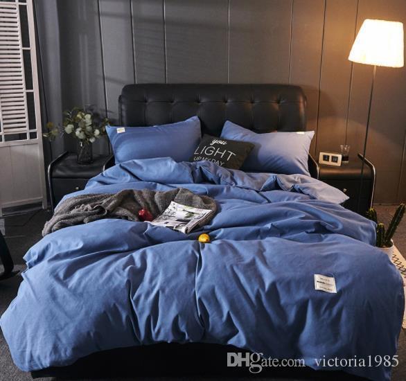 8 цветов сплошной цвет AB наборы постельных принадлежностей пододеяльник плоский лист Постельное белье пастырское простыня DHL / UPS