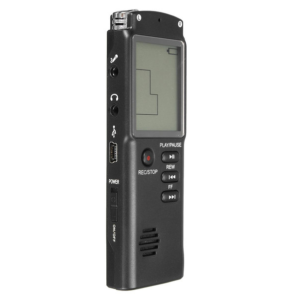 LCD Digital Audio Voice Recorder Dictaphone Rechargeable MP3 Player With Earphone Built-in Microphone