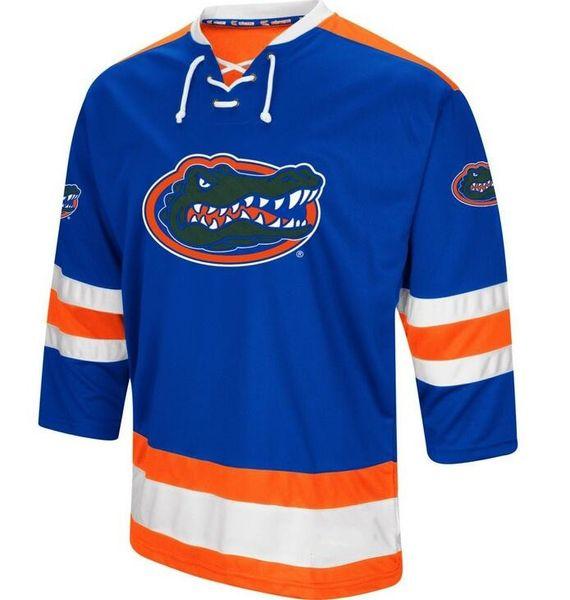 Vintage Florida Gators Hockey Jersey Stickerei genäht Passen Sie eine beliebige Anzahl und Namen Trikots