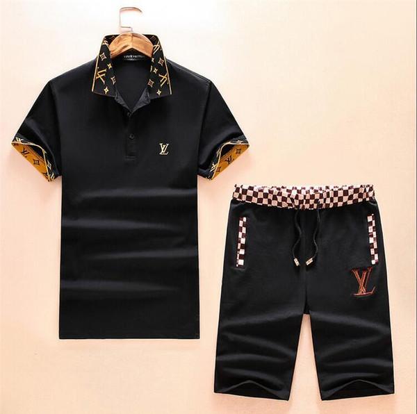 Vêtements de sport pour hommes costume costume pantalon noir et blanc avec des lettres étiquette costume décontracté running costume de mode automne