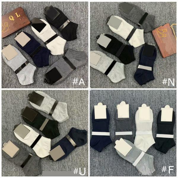 top popular Mix styles Men Socks Boys Short Sock Outdoors Sports Basketball Socks Ankle Socks Black Grey White 2021