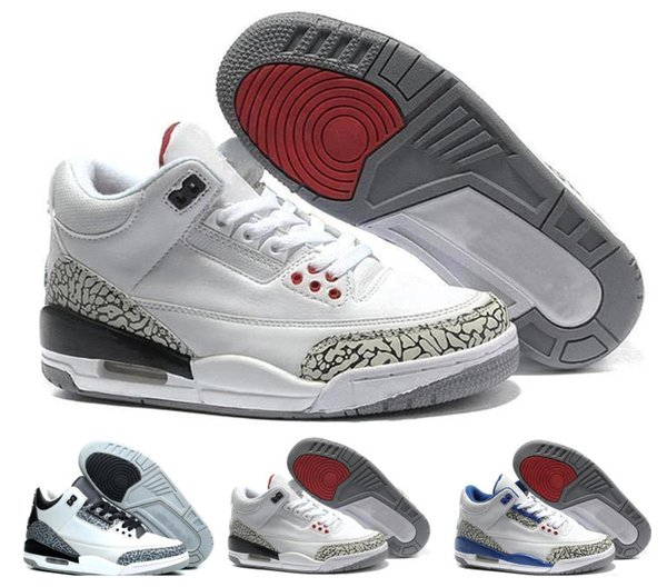 b12d8787fde Retro New white black cement 2018 infrared 23 wolf grey basketball shoes  sneakers for men 3 3s Good Quality Version US size 8-13