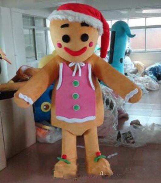 Venda quente homem de gengibre traje da mascote trajes dos desenhos animados trajes do partido trajes de fantasias