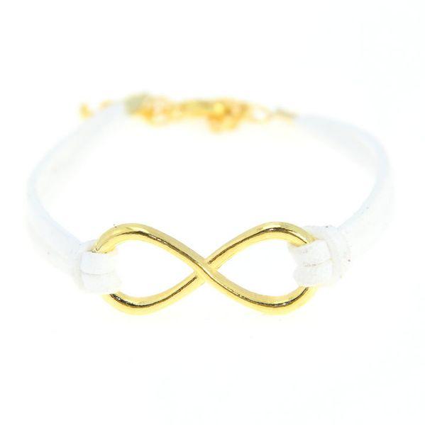 Free Shipping 3 Pcs/lot Antique Glod Tone Handmade Korean Velvet Infinity Bracelets new Hot Sales Fashion Personalized Jewelry