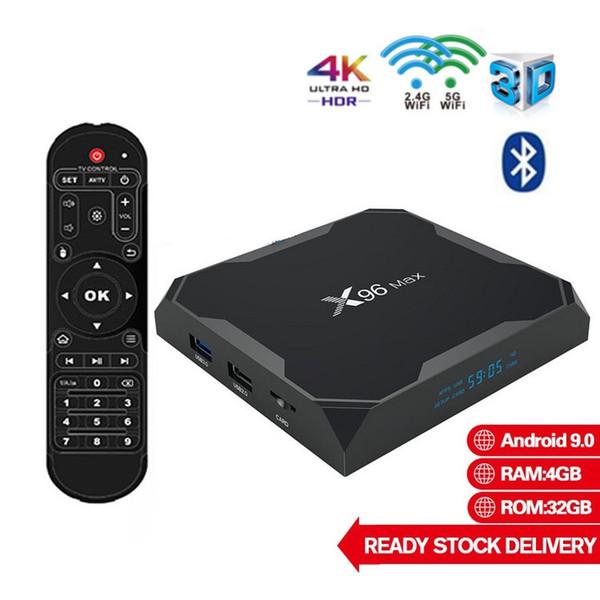 top popular X96 MAX Amlogic S905X3 4GB 32GB Android 9.0 TV Boxes Dual WIFI 2.4G+5G Smart TV Box PK TX6 H96 MAX 2020