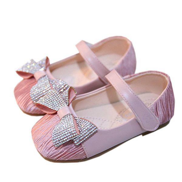 1-3 t sapatos de bebê da criança shoes princesa baby girl shoes diamante arcos infantil sapato meninas de casamento sapato da moda Mocassins Macio Primeiro Sapato A6783