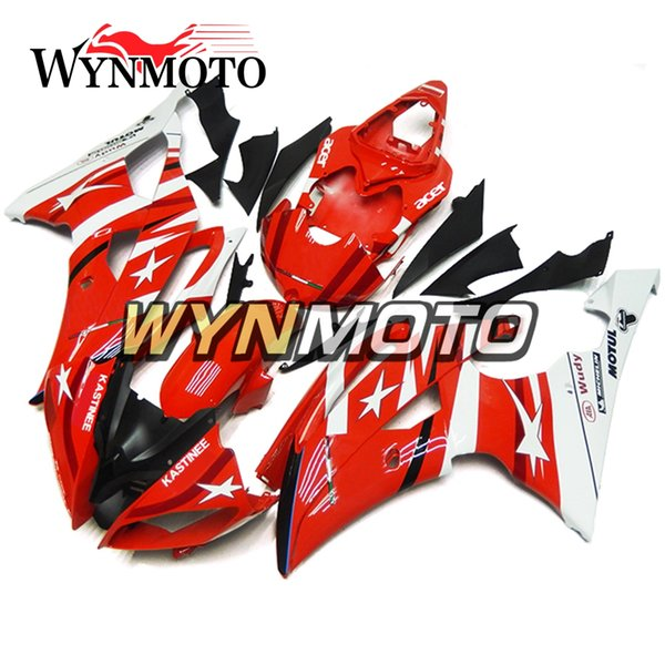 Yamaha YZF 600 R6 Için tam Motosiklet Kaporta 2008 - 2016 09 10 11 12 13 14 15 ABS Plastik Enjeksiyon Motosiklet Vücut Kitleri Yeni Kırmızı Gövde