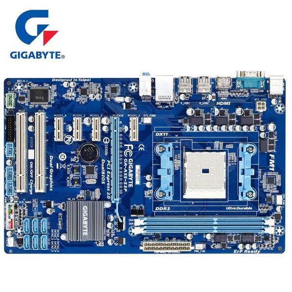 Placa base Gigabyte GA-A55-S3P 100% original 90% Nueva DDR3 DIMM 32G Placas de placa base de escritorio A55 S3P A75 CPU Socket FM1 HDMI